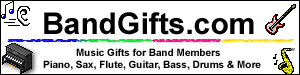 Band Gifts: Guitar, Bass, Drums, Piano, Sax, Flute, Clarinet, Violin